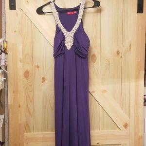 ELLE Purple Maxi Dress